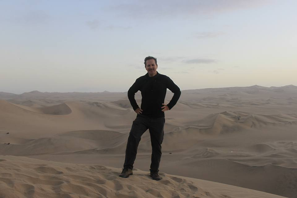 On top of sand due at the Huacachina Oasis, Peru
